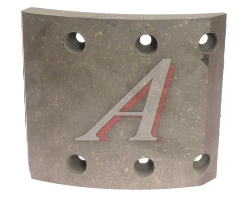 Накладка тормозной колодки КАМАЗ (13-) сверленая б/азб Wшир.=140мм;Lдуги=154мм;hтолщ.=14/19мм ТИИР